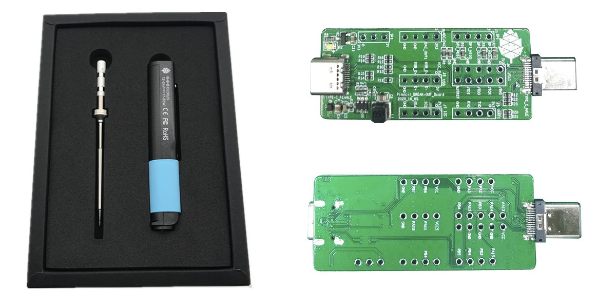 RISC-V soldering iron breakout board
