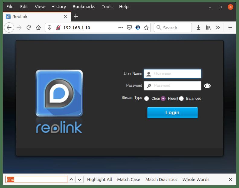 Reolink CCTV Browser