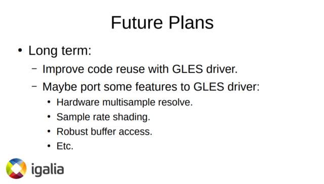 Vulkan Driver future plan