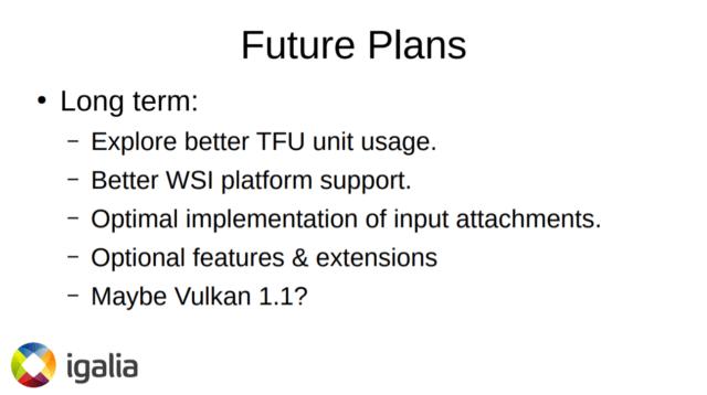 Raspberry Pi 4 Vulkan driver future plans