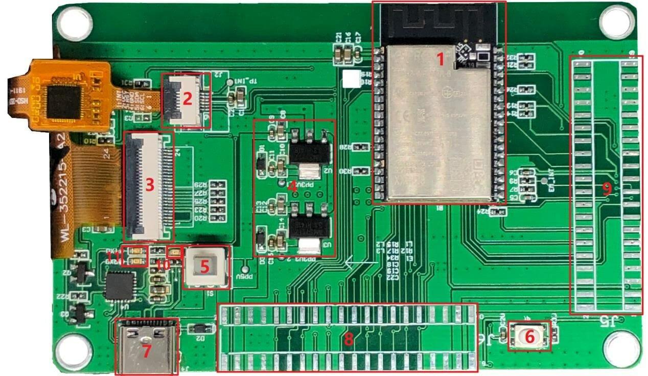 WT32-SC01 ESP32 WiFi Display
