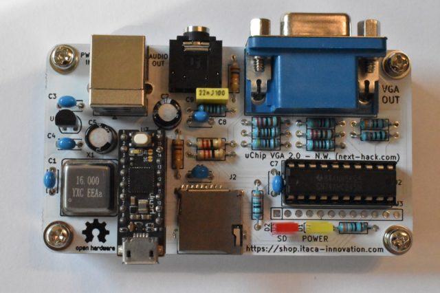 uSVC Arduino VGA retro-gaming console