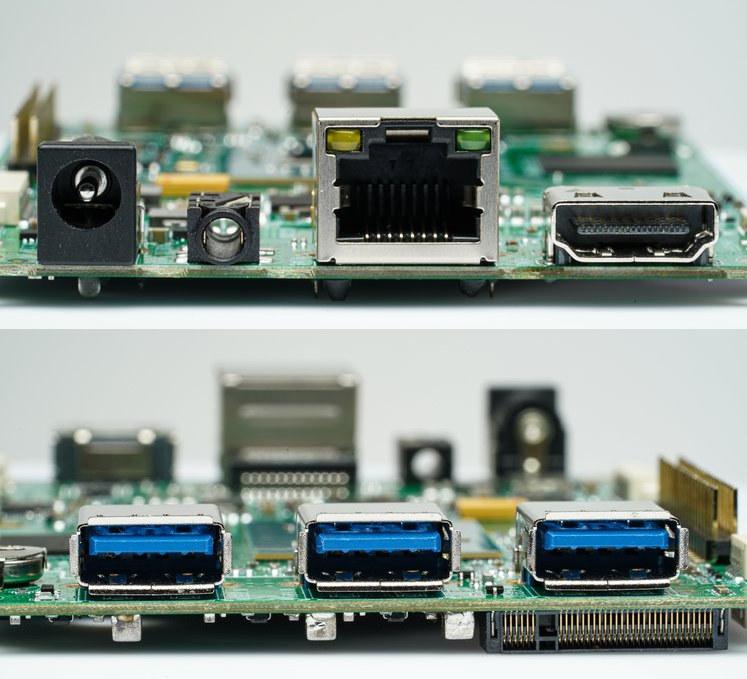 Intel Celeron N4020 SBC Ports