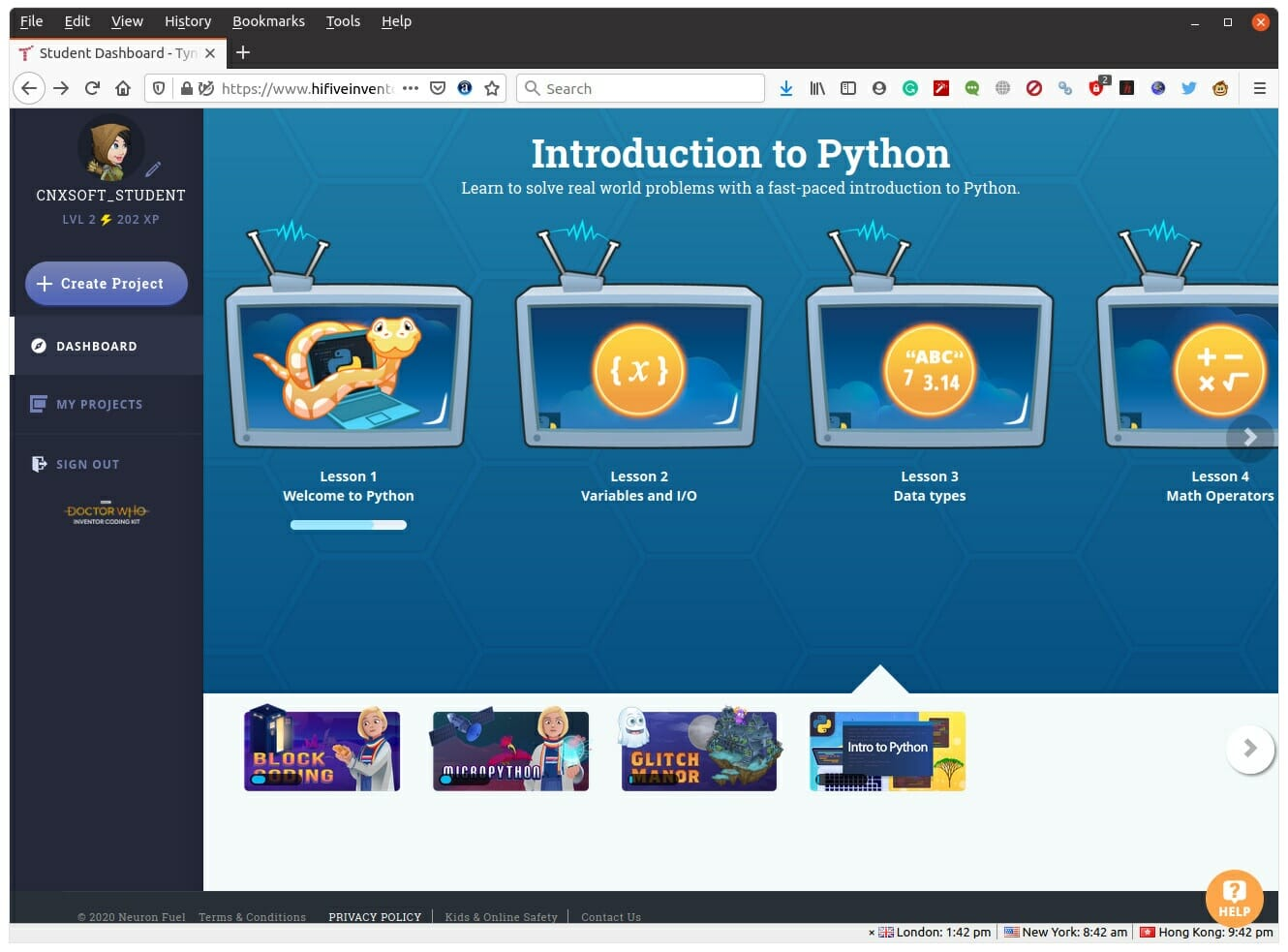 Introduction to Python Inventor Coding Kit