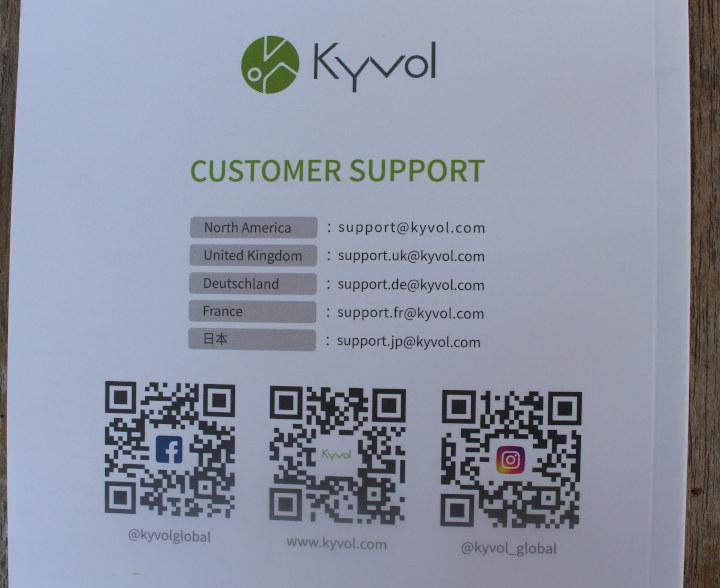 Kyvol customer support