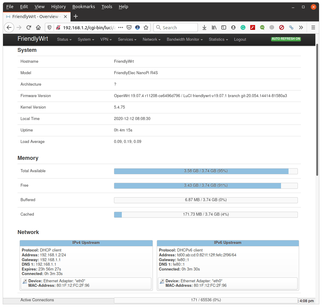 NanoPi R4S OpenWrt LuCi