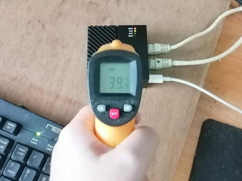 NanoPi R4S temperature