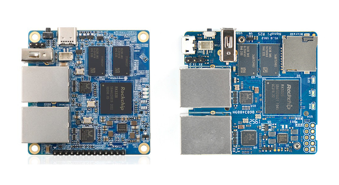 Orange Pi R1 Plus vs NanoPi R2S