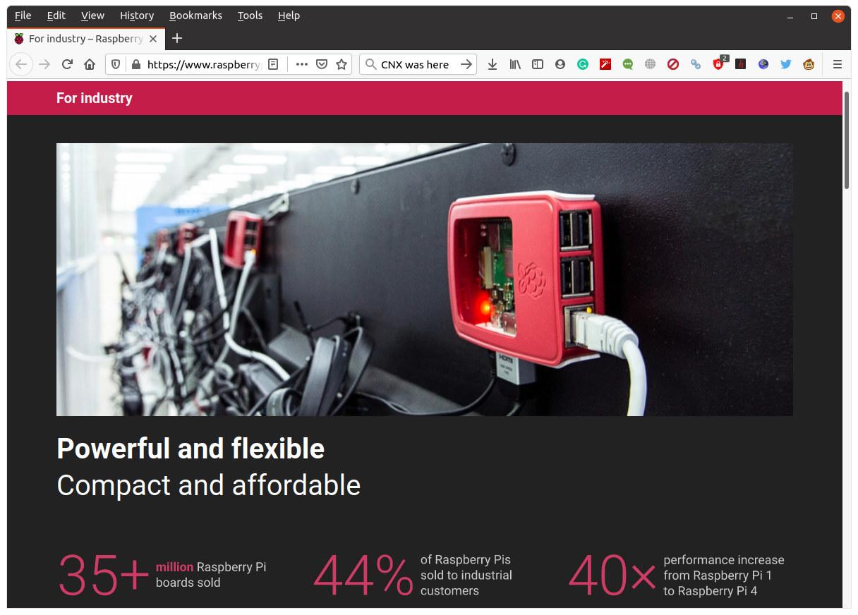 Raspberry Pi Industrial Support website