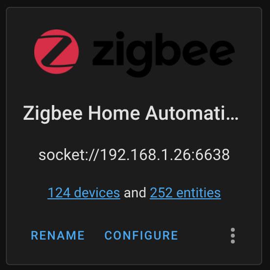 Zigbee Home Assistant