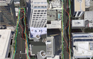 Urban GPS -accuracy 3D mapping