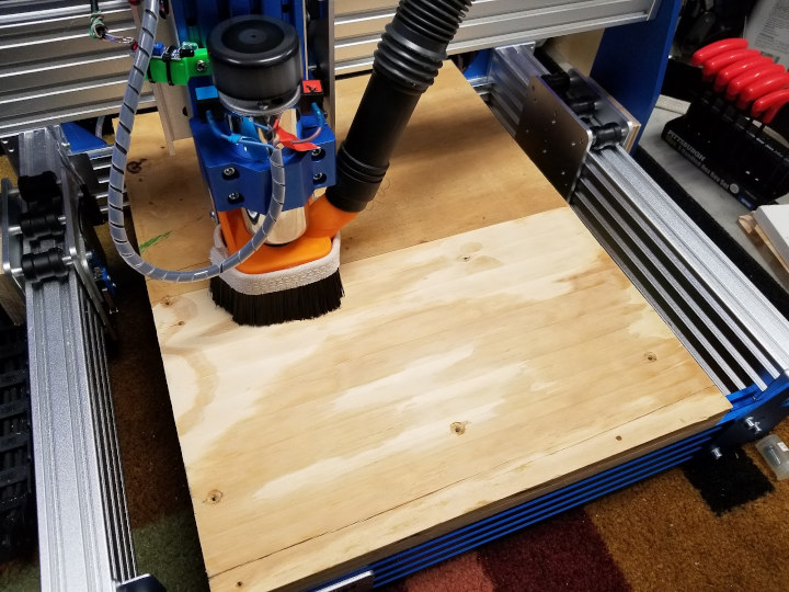CNC Router dust collector mod