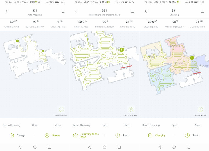 Cybovac S31 smart-vacuum cleaner SLAM create map