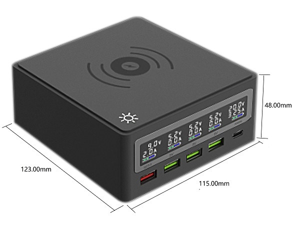 Desktop Power Supply Qi Wireless Charging