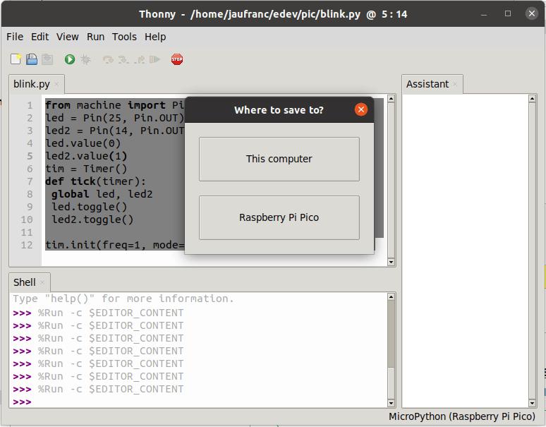 MicroPython Save to Computer or Raspberry Pi Pico