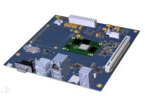 Over-board Raspberry Pi Compute Mobule 4 mini-ITX carrier board