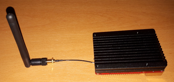 Rock Pi X heatsink fully assembled