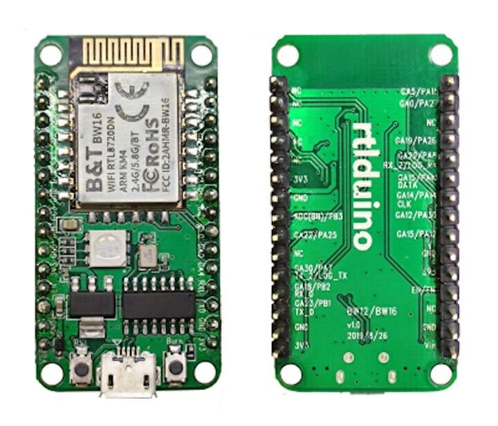 Rtlduino RTL8720DN dual-band WIFi IoT board