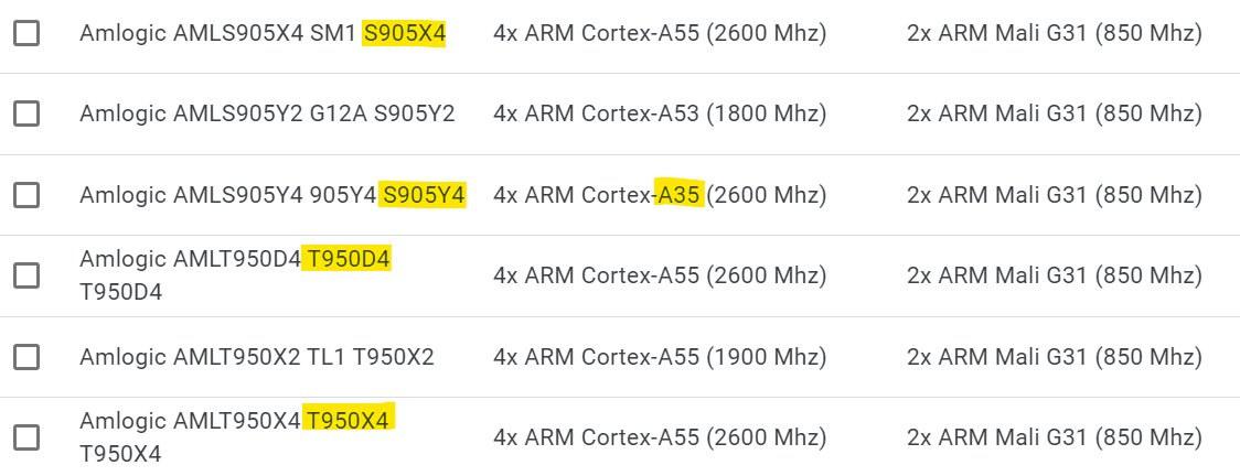 S905Y4 2600 MHz