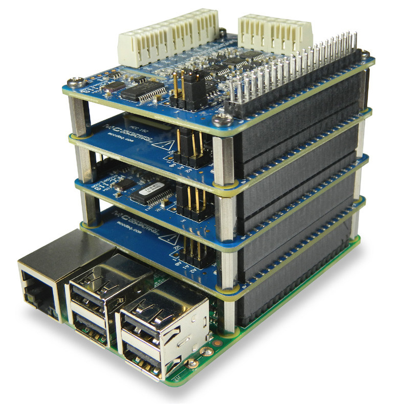 Stacking of MCC-128 DAQ HAT