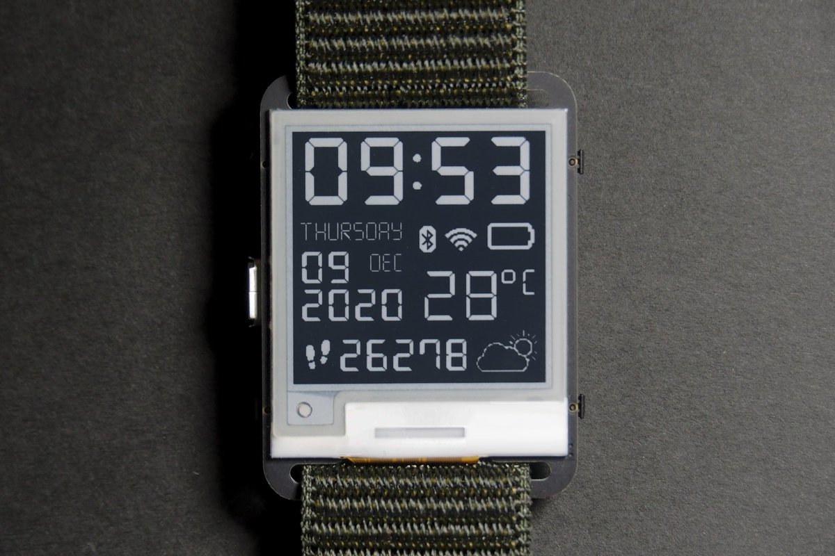 Watchy Pebble-Like Smartwatch