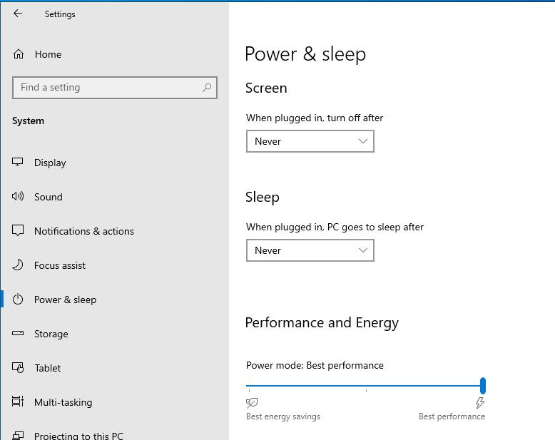 best performance power mode