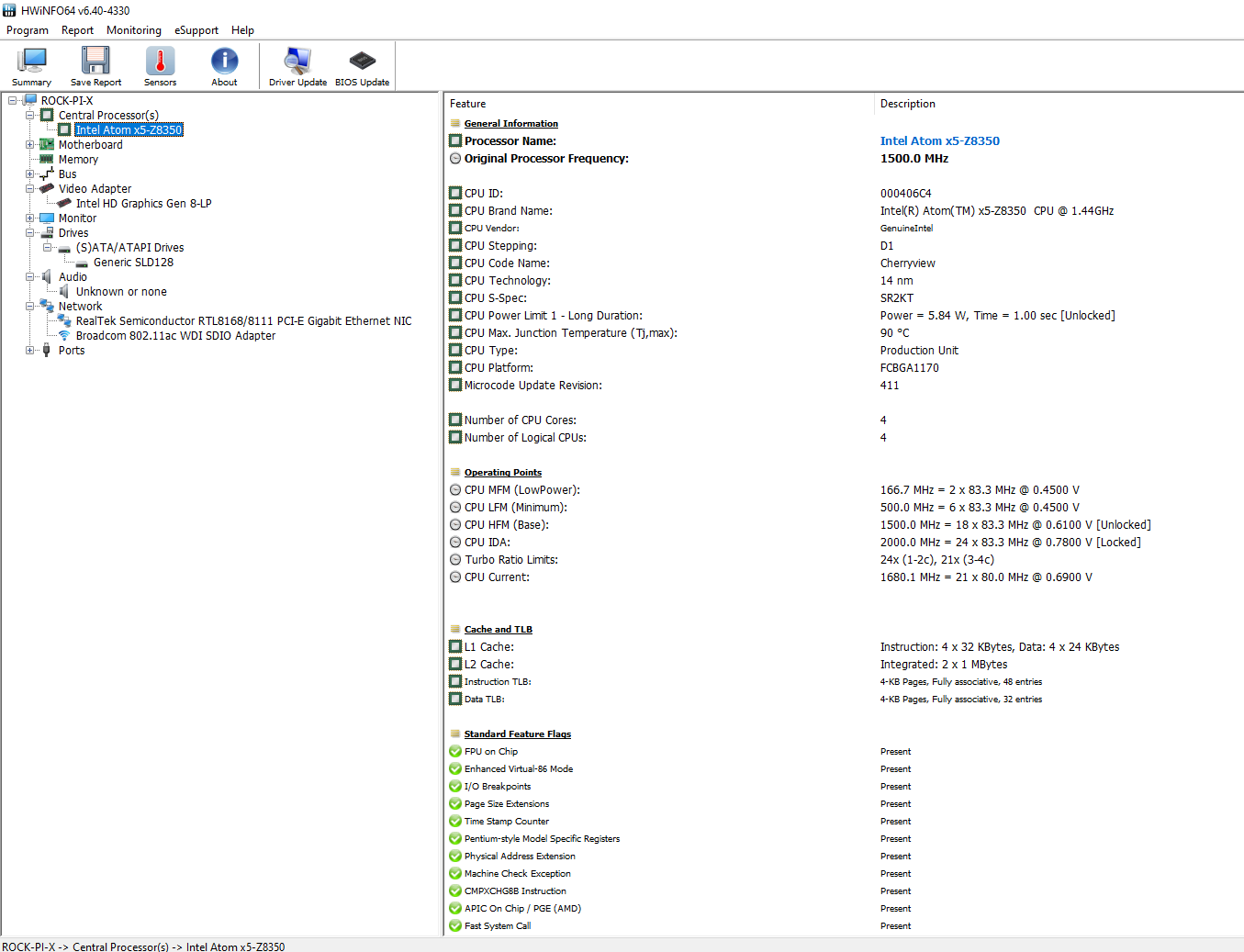 hwinfo64 windows configuration