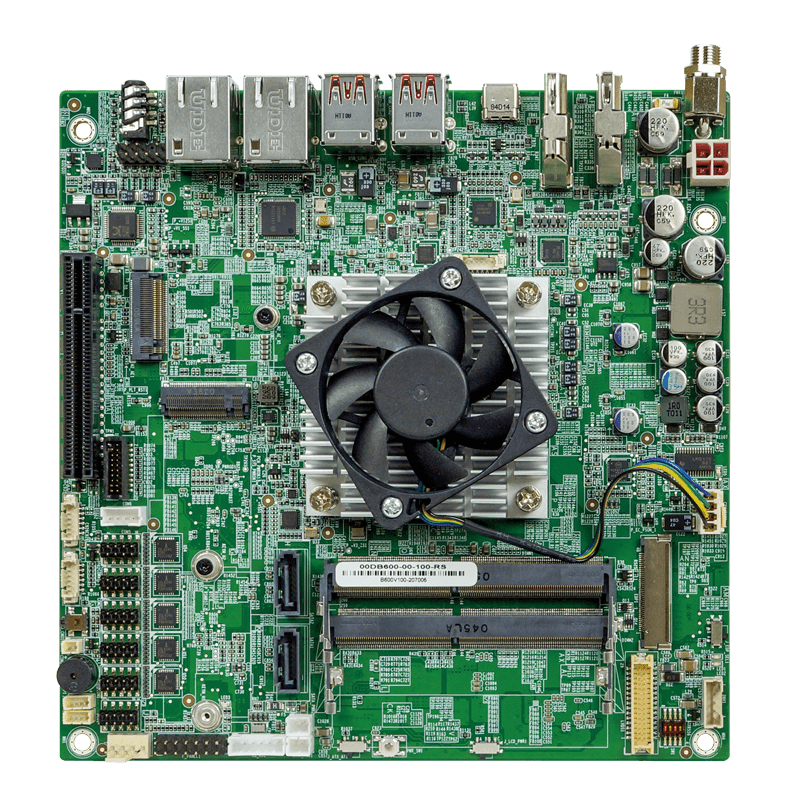 Mini-ITX SBC with Tiger Lake UP3 CPU offers dual 2.5GbE, quad display support