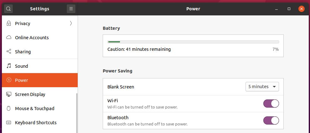 ubuntu battery
