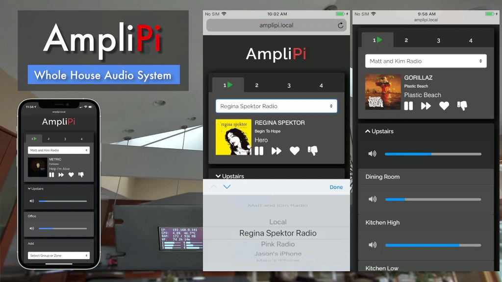 AmpliPi Web App