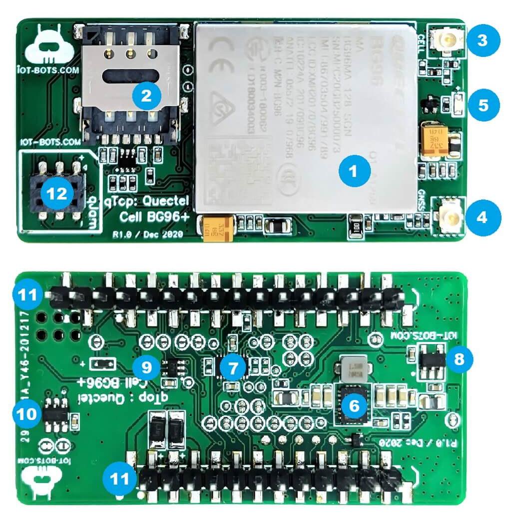 IoT Bots qTOP LTE IoT GPS Tracker board