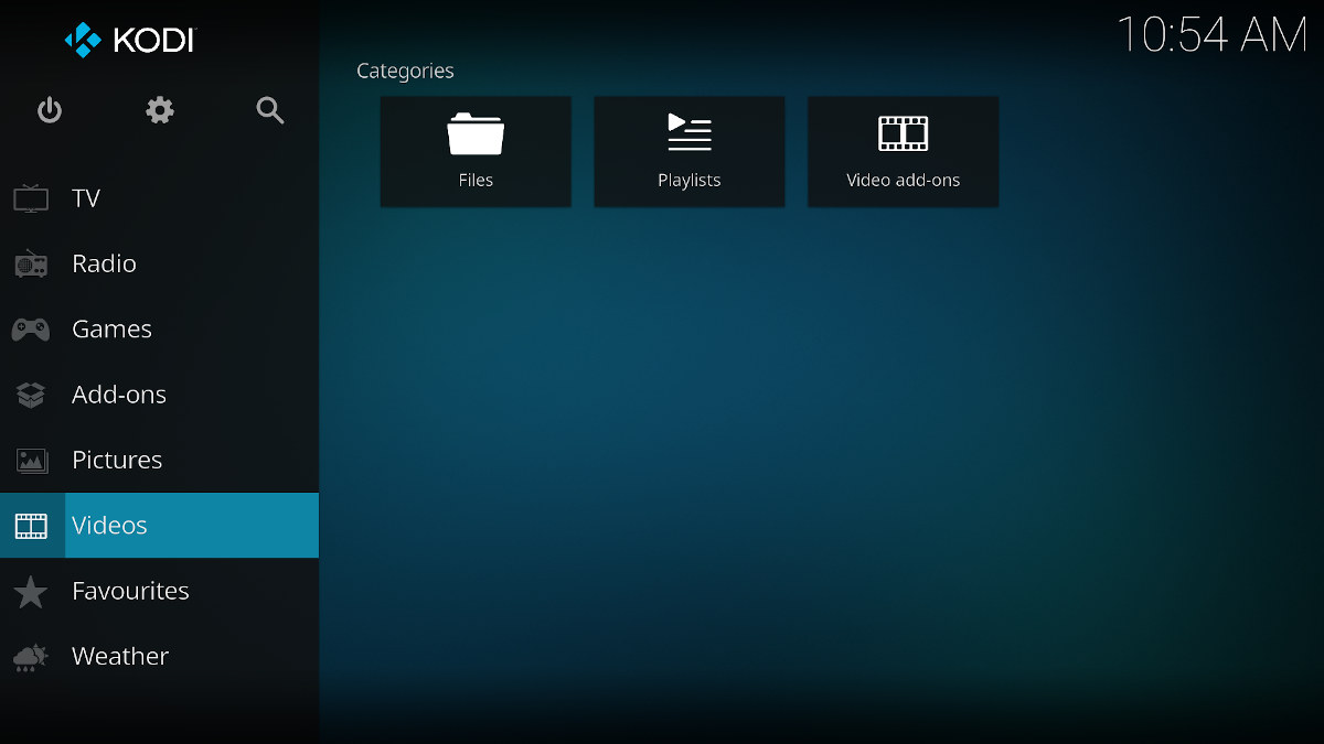 Kodi 19 user interface