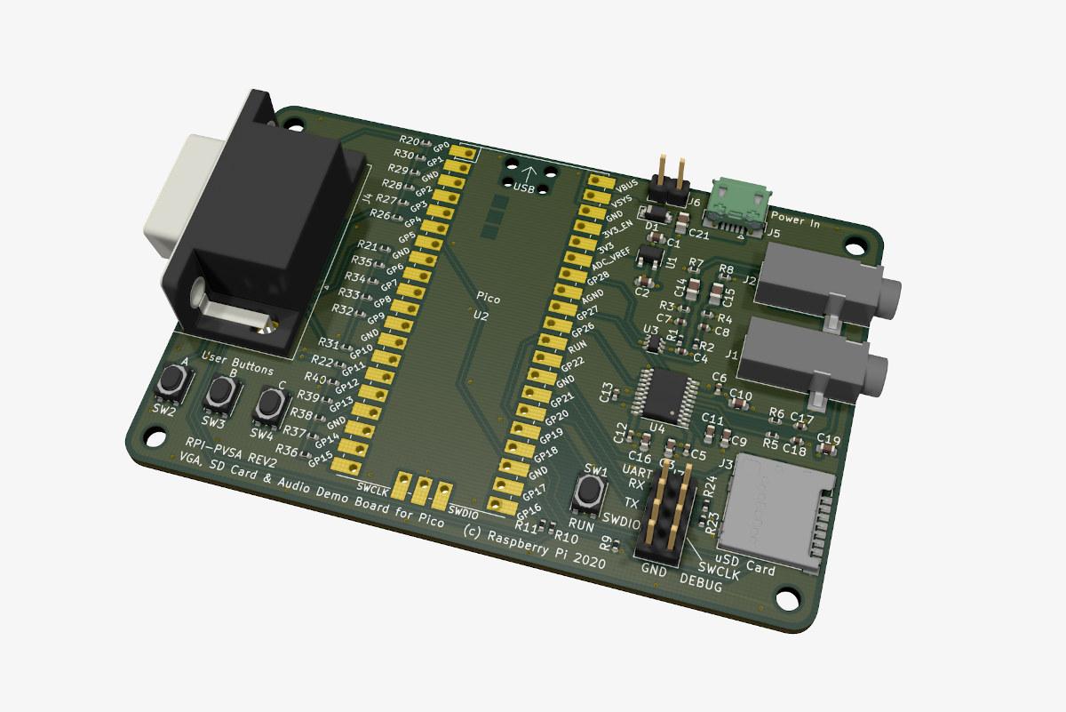 VGA SD Card Audio Board for Raspberry Pi Pico