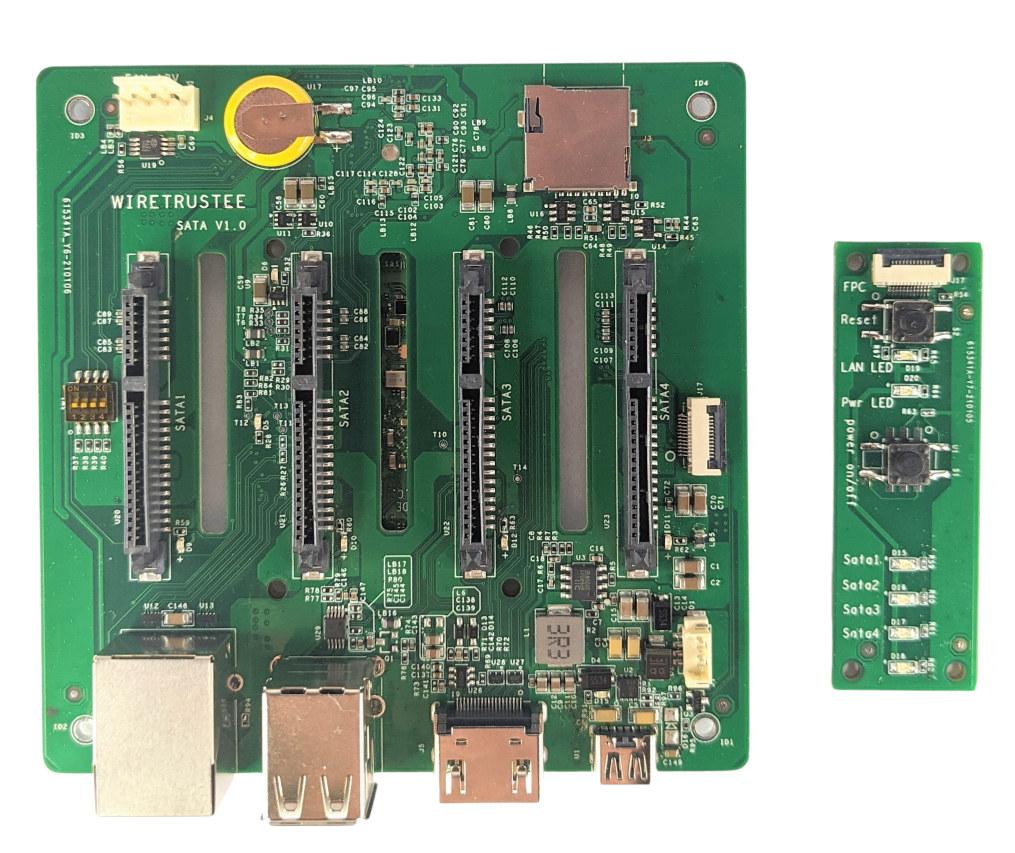 Wiretrustee NAS control board