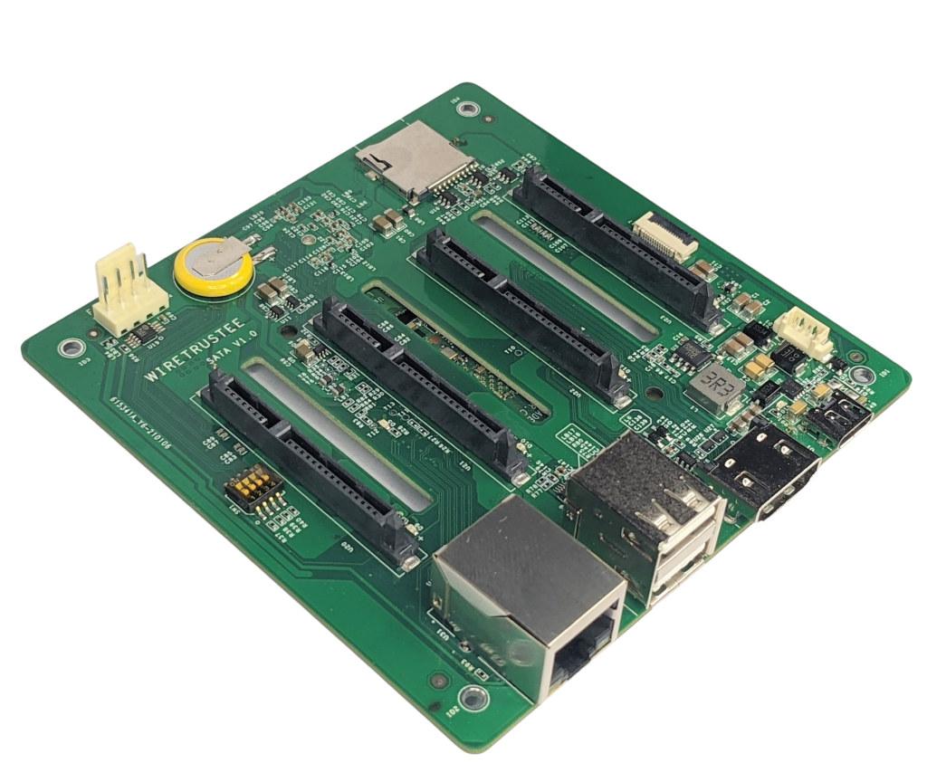 Wiretrustee SATA board Raspberry Pi Compute Module 4