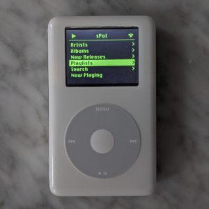 iPod Raspberry Pi W Spotify