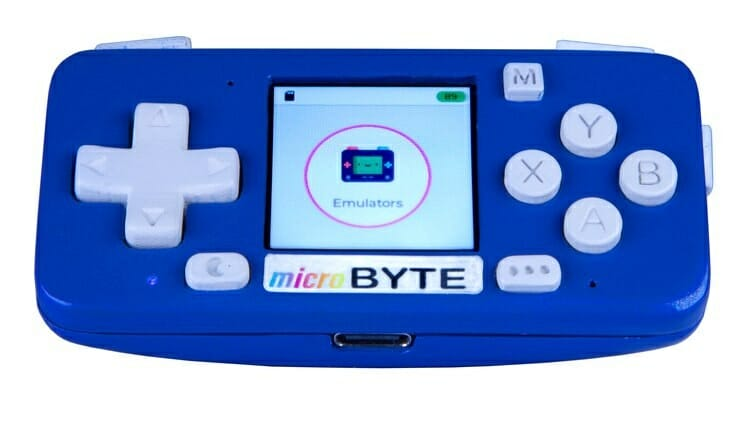 microByte ESP32 portable game console with 1.3-inch display