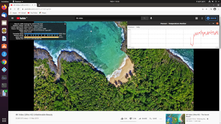 ubuntu browser temperature Beelink SEi