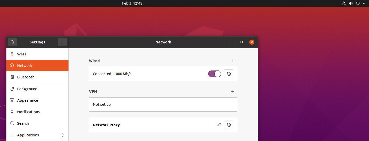 ubuntu ethernet failure