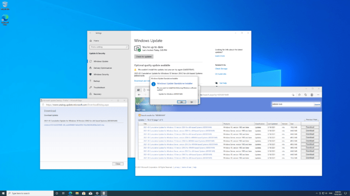 NUC11 Windows 10 update issue