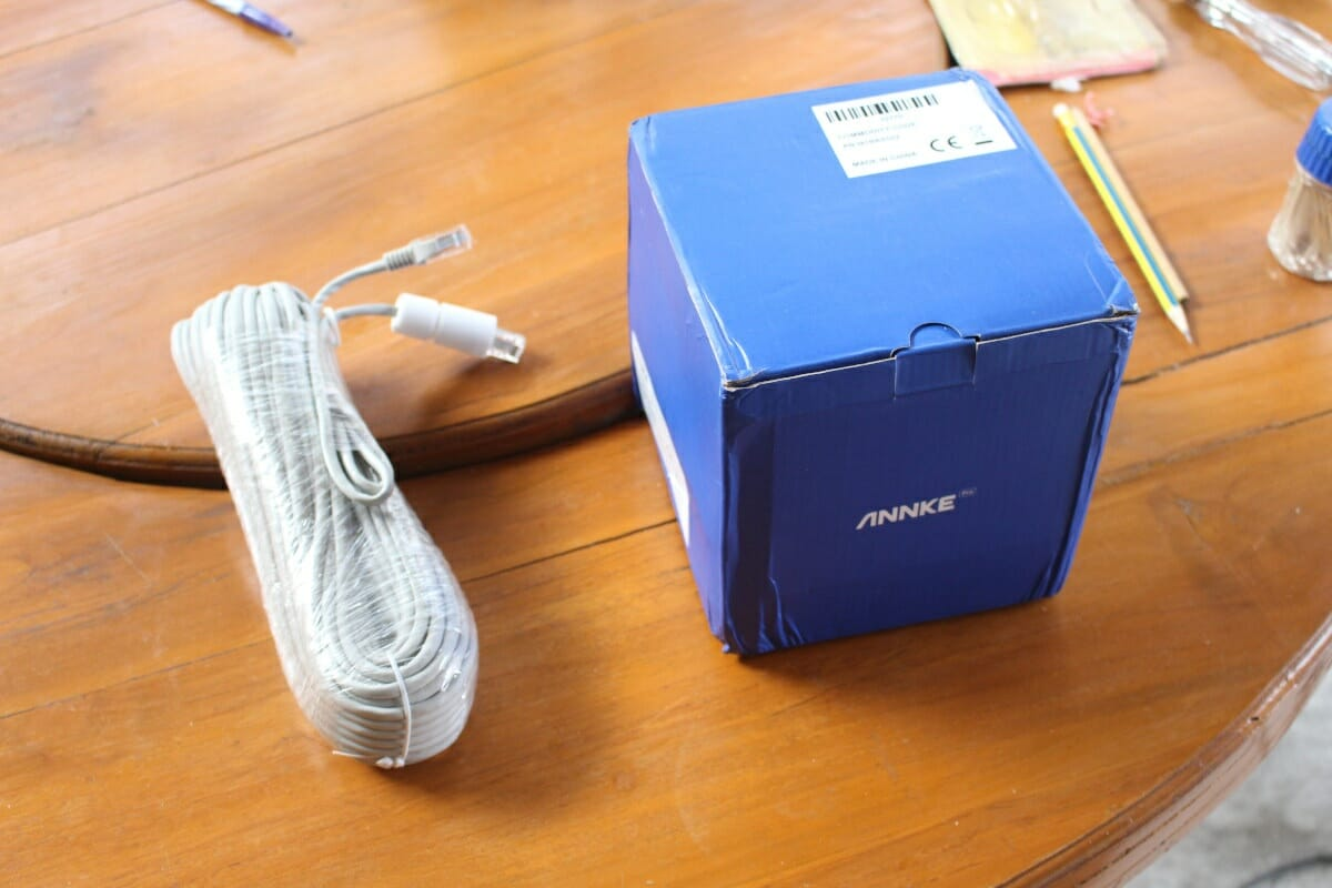 Annke CZ400 package with ethernet cable