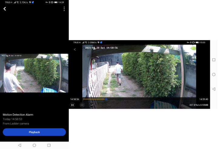 Annke motion detection video