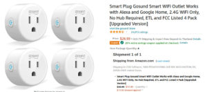 ESP8266 smart plug pack discount
