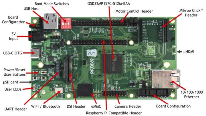 OSD32MP1-RED development board