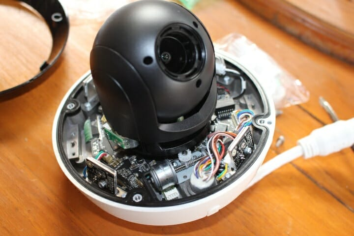 PTZ motor security camera