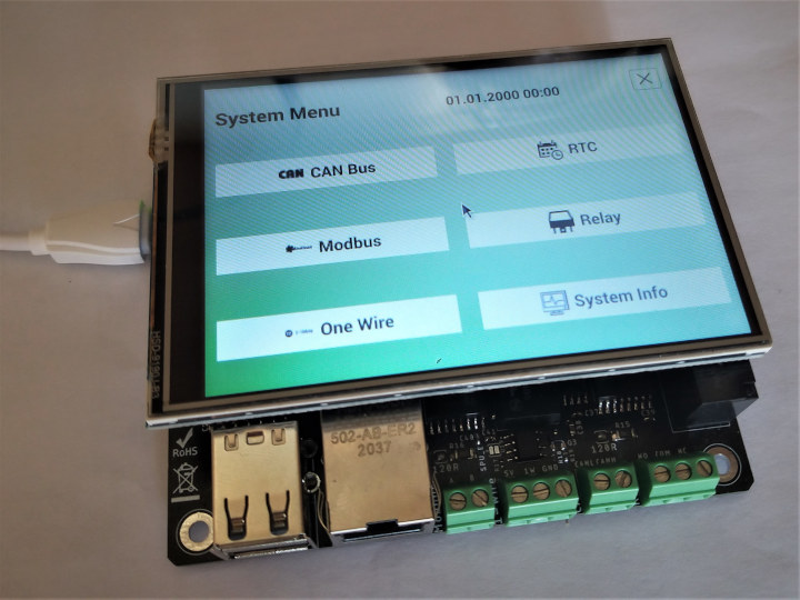 Raspberry Pi CM4 CAN Bus, RS485/Modbus, One-Wire user interface
