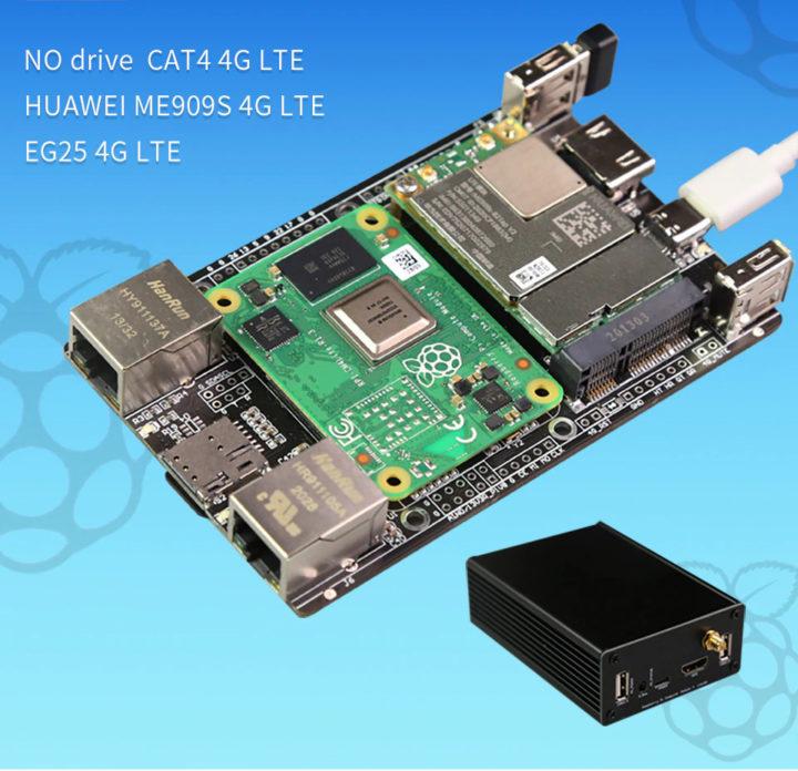 Raspberry Pi CM4 Dual Ethernet 4G LTE