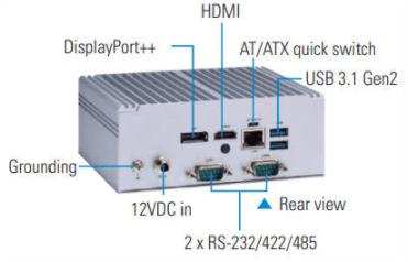 Rear View Axiomtek eBOX560-52R-FL