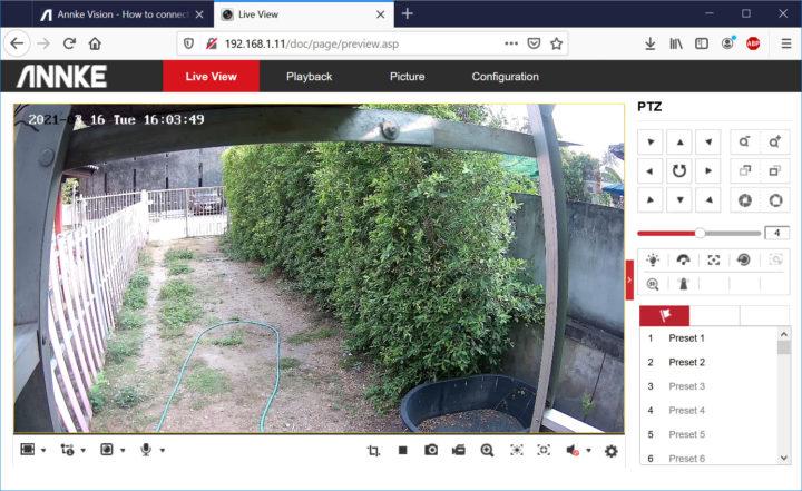 Annke web liveview firefox