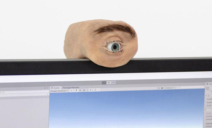 Eyecam eye-shaped webcam